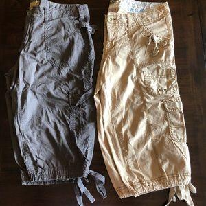 Bundle of 2 - Cargo Capri Pants